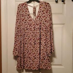 Flowered tunic/dress NWOT size M